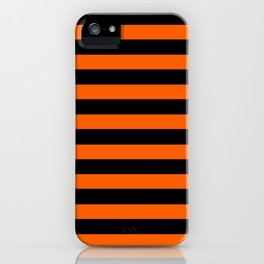 Black & Orange Stripes iPhone Case