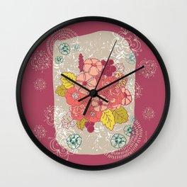 Vintage flowers bunch Wall Clock