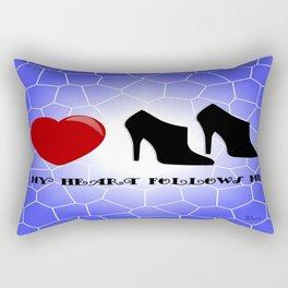 My Heart Follows Me Rectangular Pillow