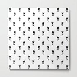 Sketchy Emojis Print Pattern Metal Print