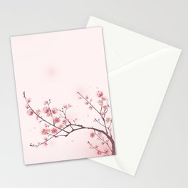 Oriental cheery blossom in spring 006 Stationery Cards