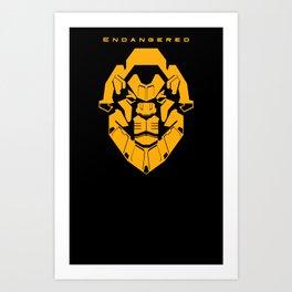 Endangered: Lion Art Print