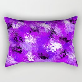 Fractured Ultra Violet Pattern Rectangular Pillow