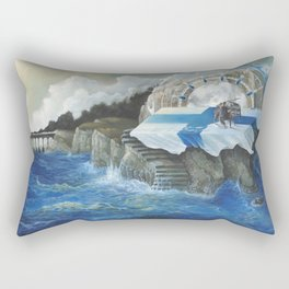 On The Other Side Of Wastelands - Oceanside Rectangular Pillow