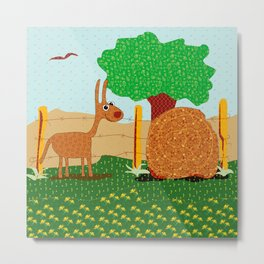 Lunchtime, Yummy Hay! Metal Print