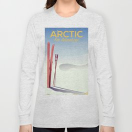 Arctic For adventure vintage poster Long Sleeve T-shirt