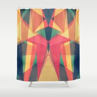 be happy Shower Curtains featuring Happy by VessDSign
