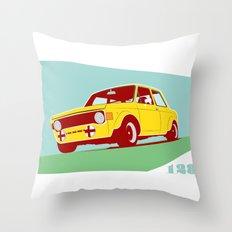 Fiat 128 Throw Pillow