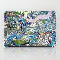 bathroom iPad Cases featuring Venice Beach Bathroom Art by Kim Ramage
