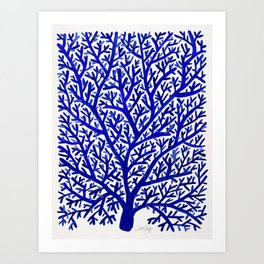 Fan Coral – Navy Art Print