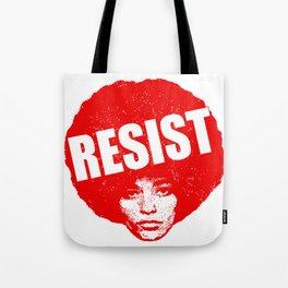 Angela Davis - Resist (red version) Tote Bag