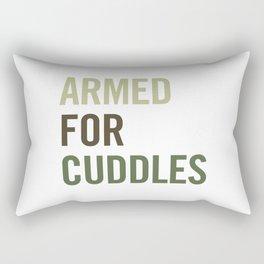 Armed for Cuddles Rectangular Pillow