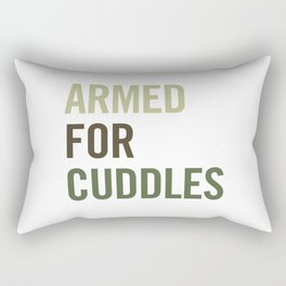 Armed for Cuddles Rectangular Pillow