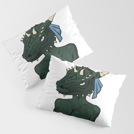 The lusty argonian maid (naked) Pillow Sham