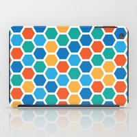 hexagon iPad Cases featuring Hexagon by Danielle Arrington