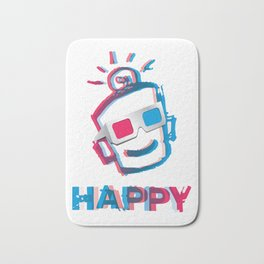 3D HAPPY Bath Mat