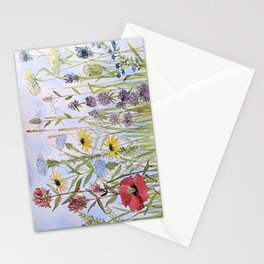 Wildflower Garden Watercolor Flower Illustration Stationery Cards