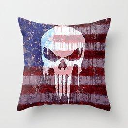 American Punisher Throw Pillow