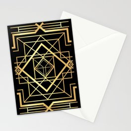 1920 Art deco Gatsby Style Stationery Cards