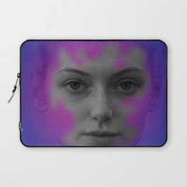 Pink and blue portrait Laptop Sleeve