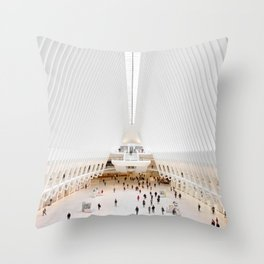 The Oculus at the World Trade Center | Calatrava #architecture #society6 Throw Pillow