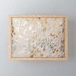 Gold Hide Print Metallic Framed Mini Art Print