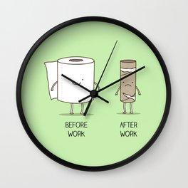 Toilet paper inspiration Wall Clock