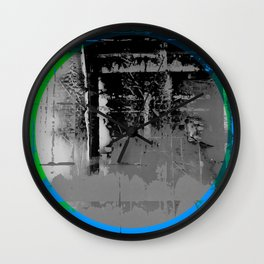 Color Chrome - B/W graphic Wall Clock