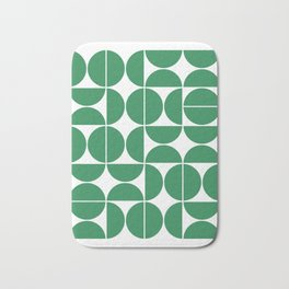 Mid Century Modern Geometric 04 Green Bath Mat