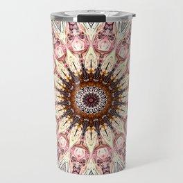 Delicate Pastel Pink Boho Mandala Travel Mug