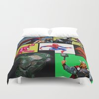 batgirl Duvet Covers featuring Hero Panel by Beastie Toyz
