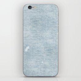 distressed chambray denim iPhone Skin