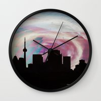toronto Wall Clocks featuring Toronto by bMAR10
