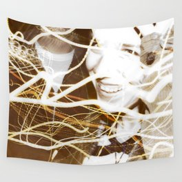 Smiles and Light - Light Painting Wall Tapestry