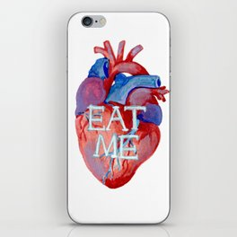 the human heart - eat me edition iPhone Skin