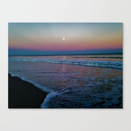 Moonlit Waves Canvas Print