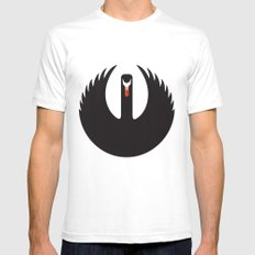 The Black Swan SMALL Mens Fitted Tee White