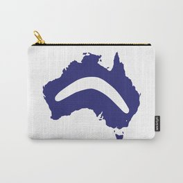 Australia Silhouette With Boomerang Carry-All Pouch