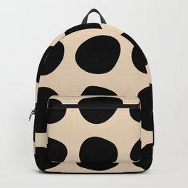 Irregular Polka Dots black and cream Backpack