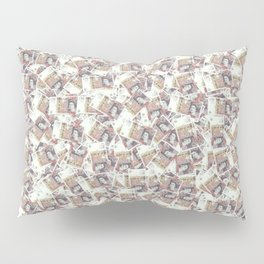 Giant money background 50 pound notes / 3D render of thousands of 50 pound notes Pillow Sham