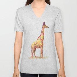 Fashionable Giraffe Unisex V-Neck
