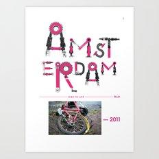 Bike to Life - Amsterdam Art Print