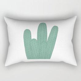 Green Cactus Rectangular Pillow
