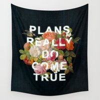insects Wall Tapestries featuring Plans Really Do Come True by Heather Landis