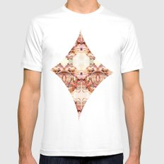 Abstract Brocarts White Mens Fitted Tee MEDIUM