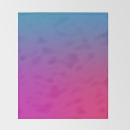 WIZARDS CURSE - Minimal Plain Soft Mood Color Blend Prints Throw Blanket