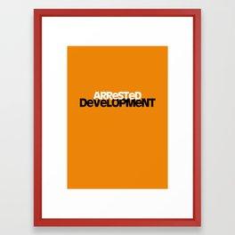 Arrested Development poster Framed Art Print