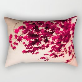 Red Fall Leaves Rectangular Pillow