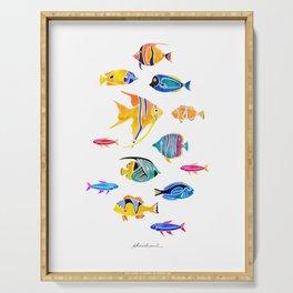 Aquatic Series 1: Fishes Serving Tray