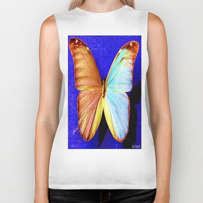 le papillon bleu Biker Tank